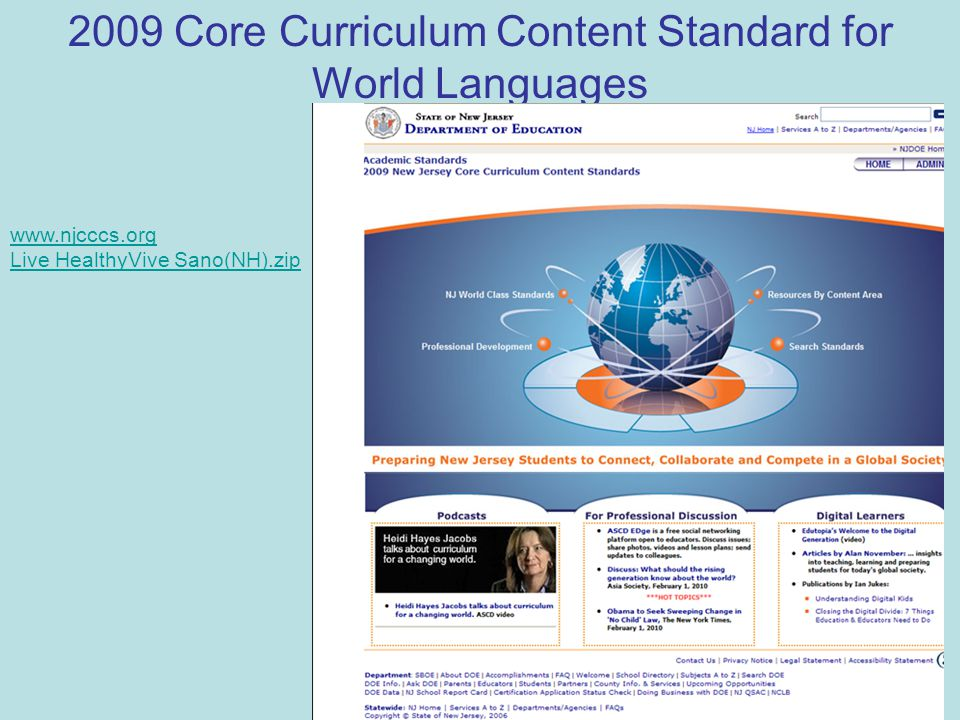 2009 Core Curriculum Content Standard for World Languages www.njcccs.org Live HealthyVive Sano(NH).zip