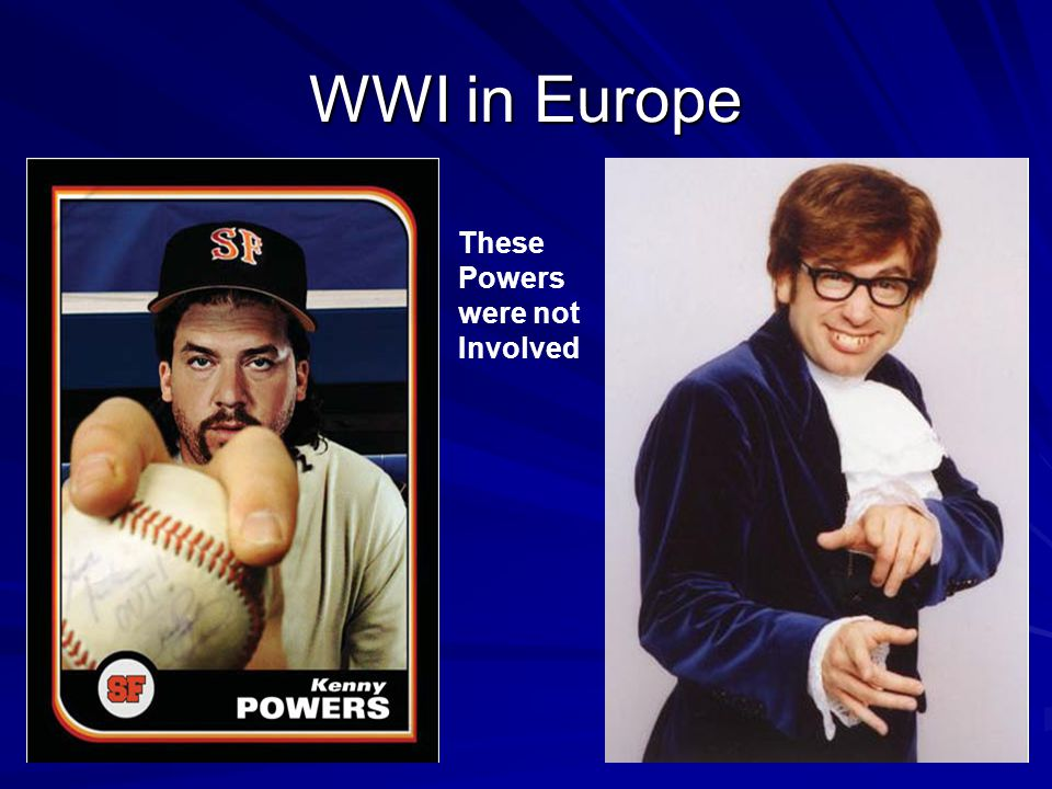 WWI in Europe These Powers were not Involved