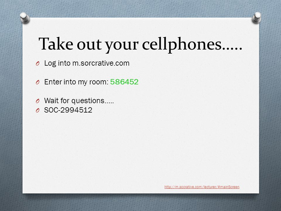 Take out your cellphones…..