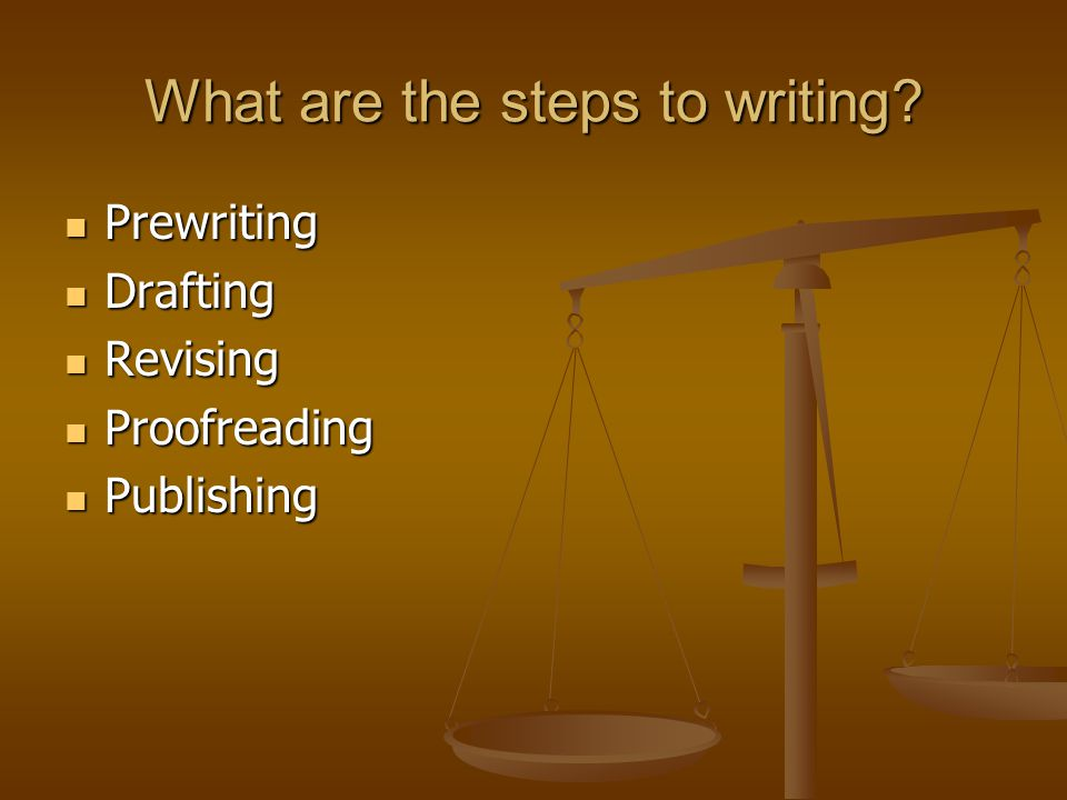 What are the steps to writing.