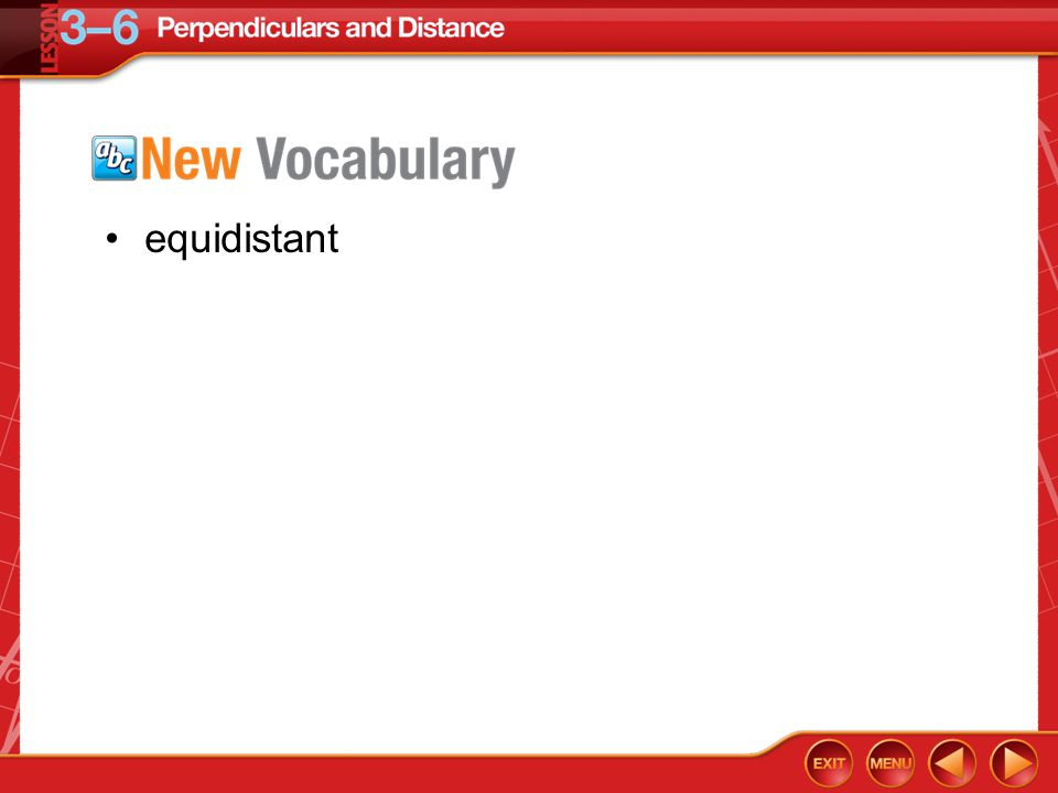 Vocabulary equidistant