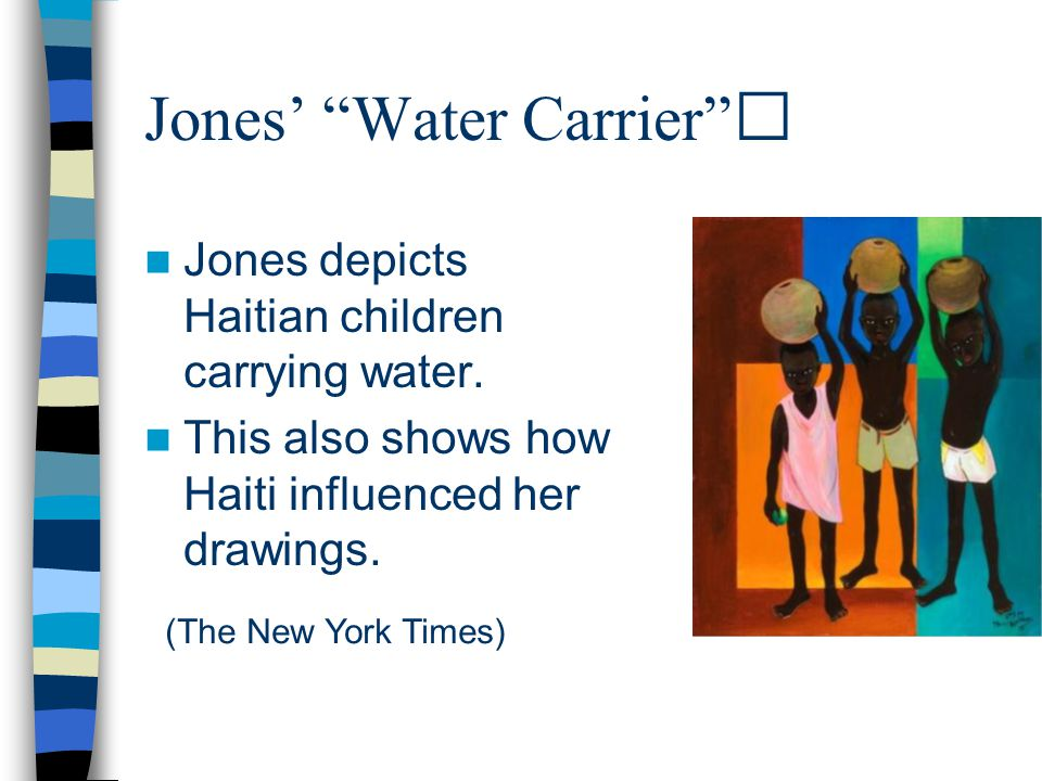 Jones' Water Carrier Jones depicts Haitian children carrying water.