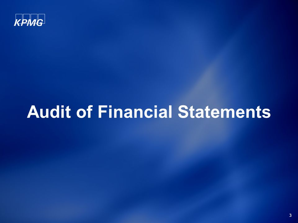 3 Audit of Financial Statements