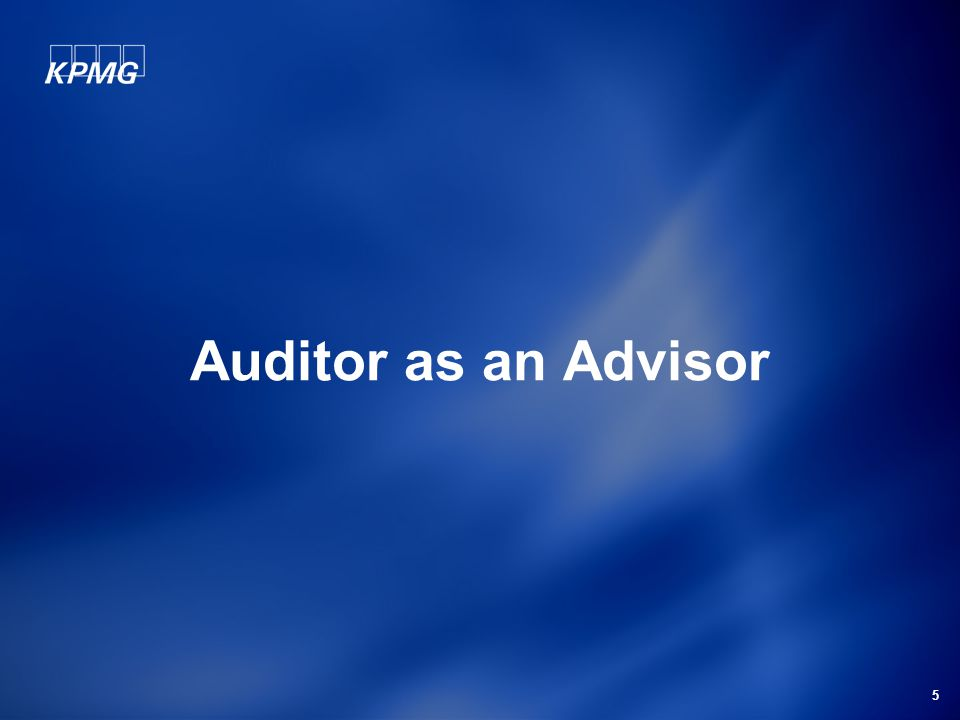 5 Auditor as an Advisor