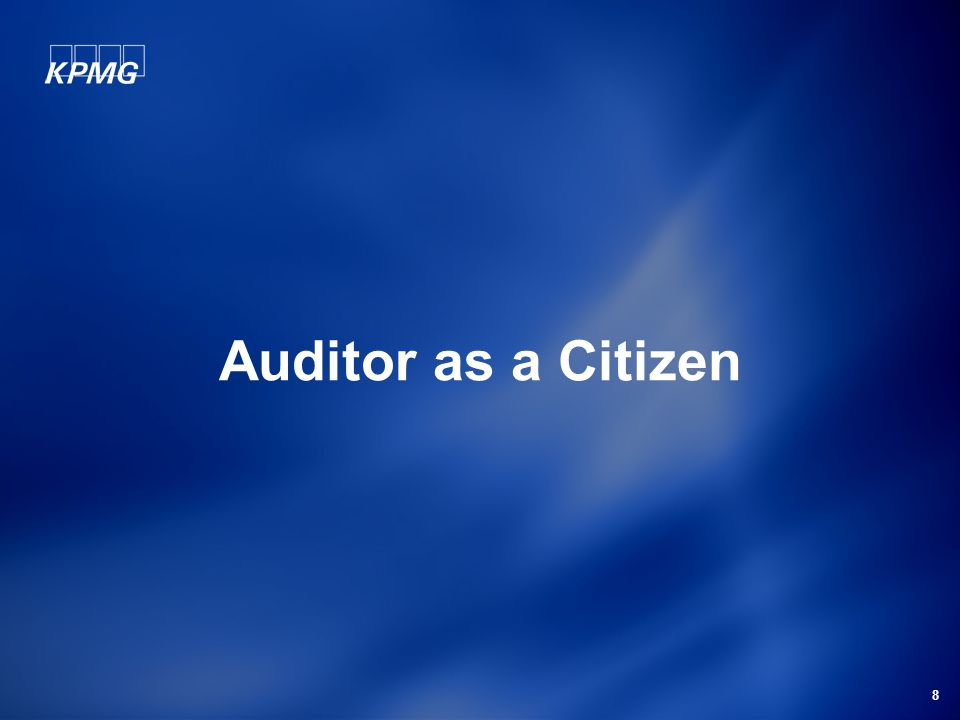 8 Auditor as a Citizen