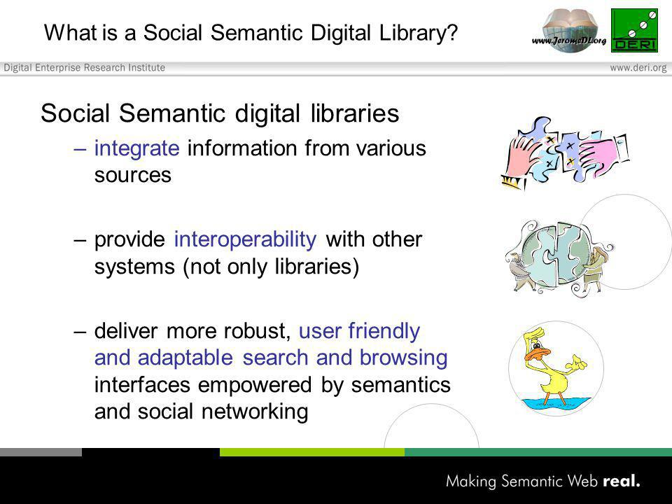 What is a Social Semantic Digital Library.