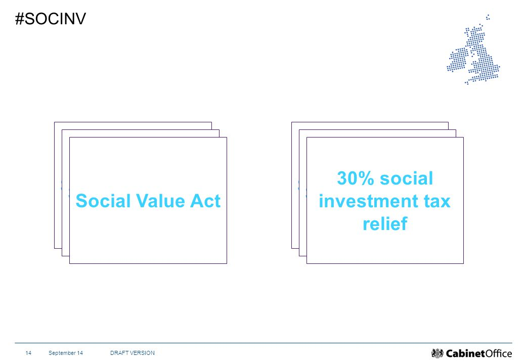 September 14DRAFT VERSION14 #SOCINV Social Value Act 30% social investment tax relief