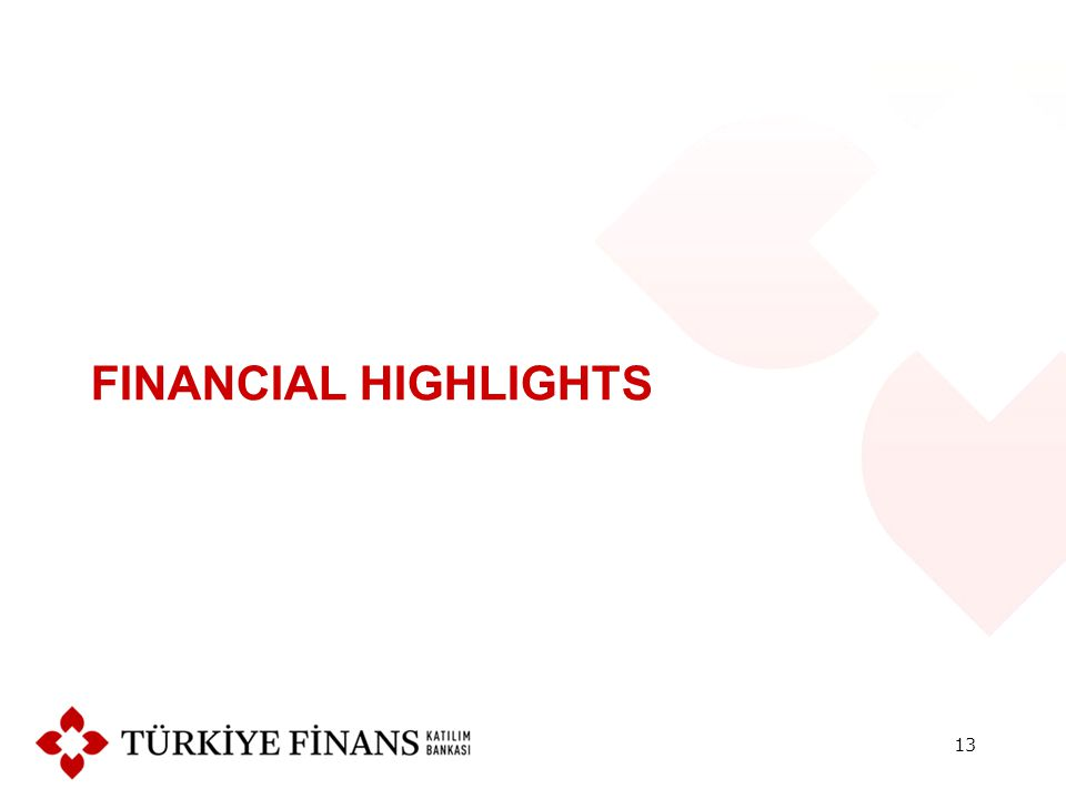 FINANCIAL HIGHLIGHTS 13