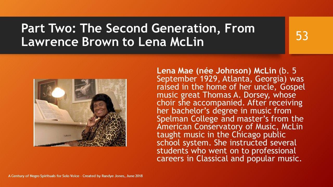 A Century of Negro Spirituals for Solo Voice Created by Randye Jones