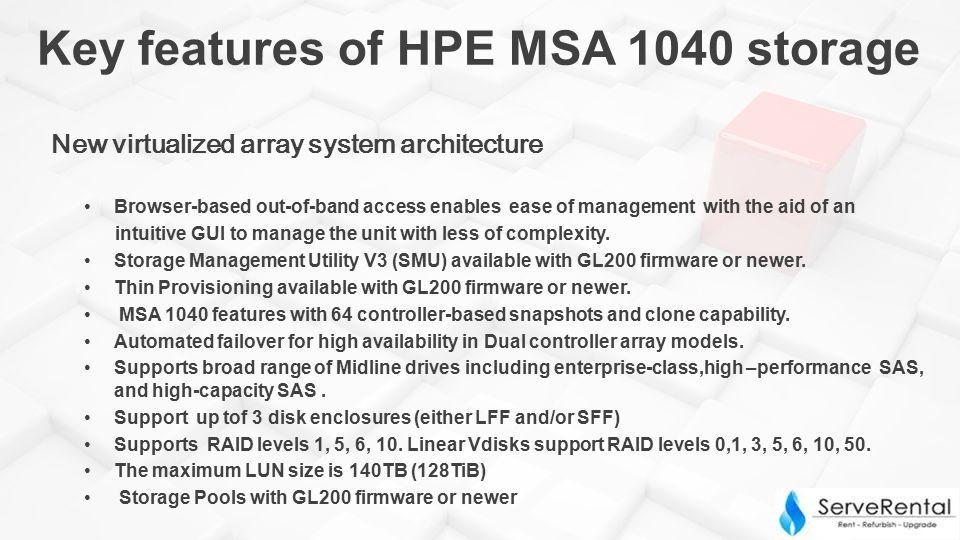 Budget -Optimized HPE MSA 1040 storage Rental & Sale  - ppt