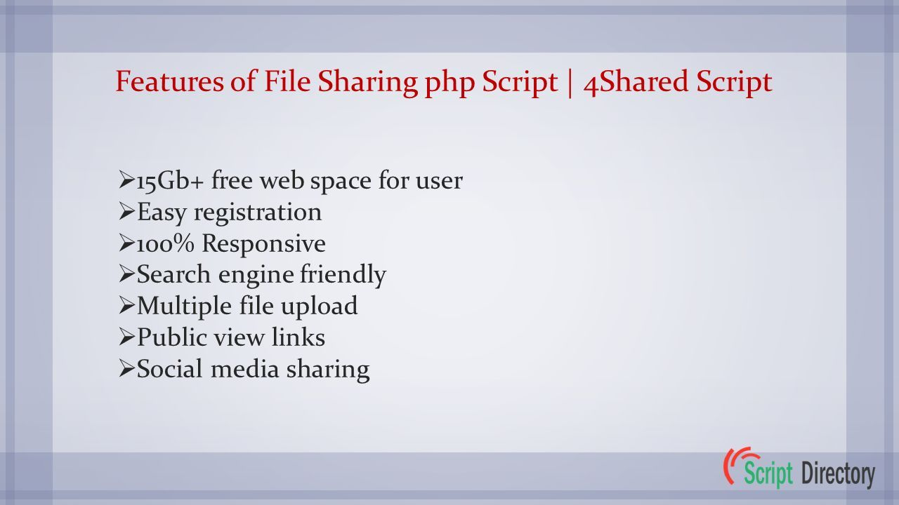 4Shared Clone | File Sharing php Script from PHP Script