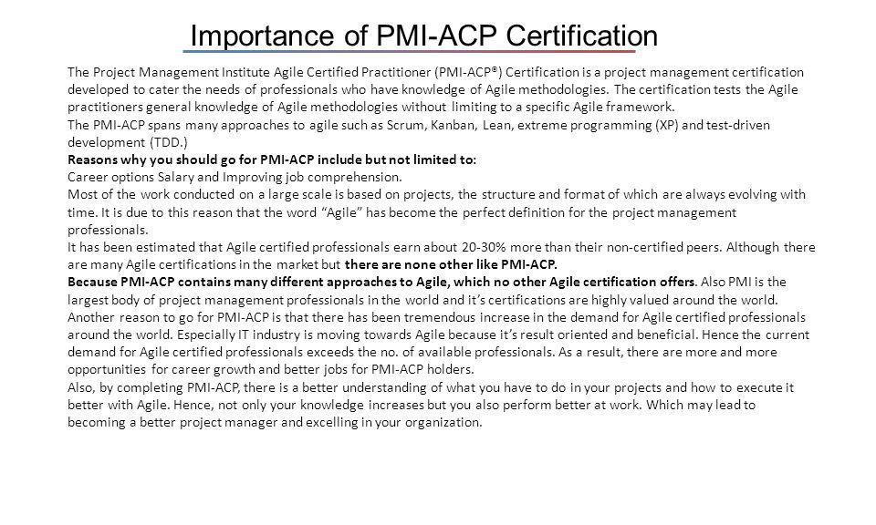 Pmi Agile Certified Practitioner Pmi Acp Exam Prep Training Take