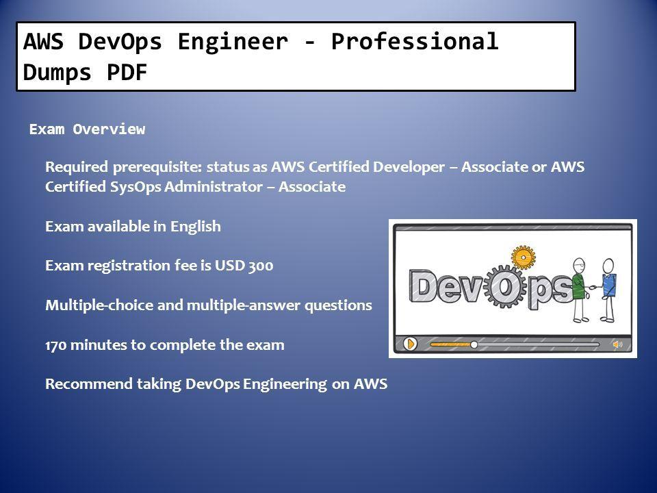 AWS DevOps Engineer - Professional dumps html Exam Code Exam