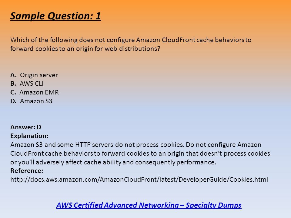 AWS Certified Advanced Networking – Specialty Exam Dumps For Full