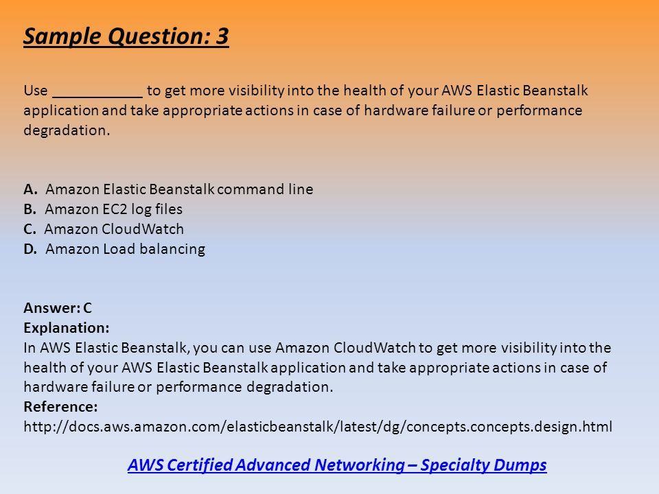 AWS Certified Advanced Networking – Specialty Exam Dumps For
