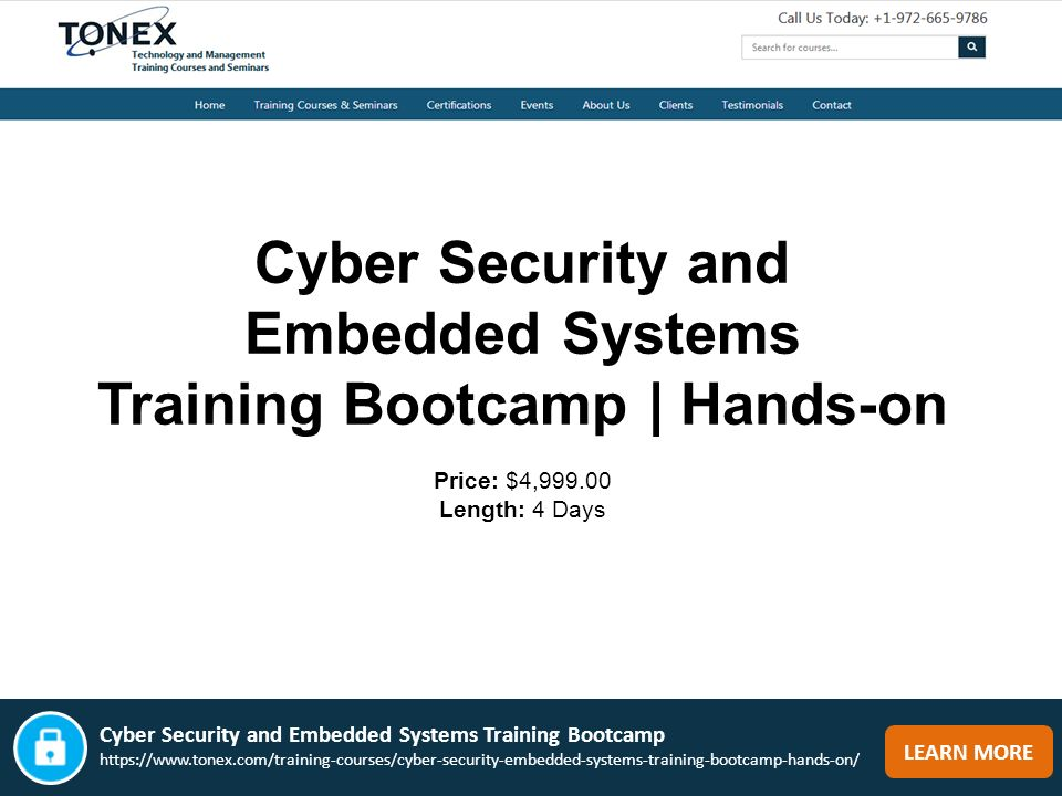 Cyber Security & Embedded Systems Training Bootcamp VISIT