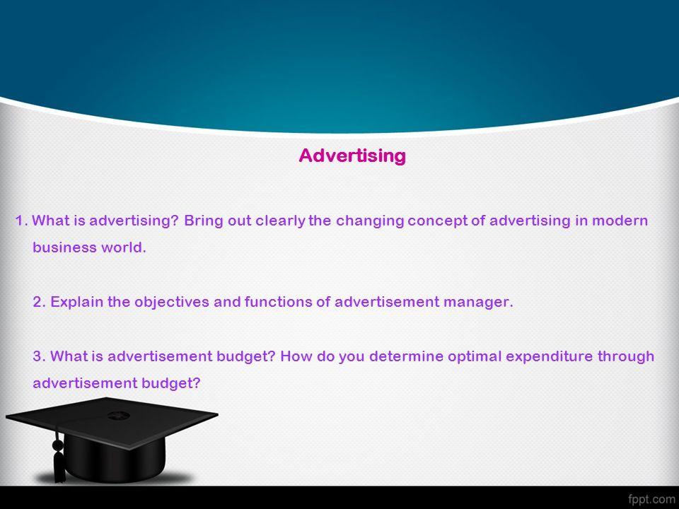 advertising manager job