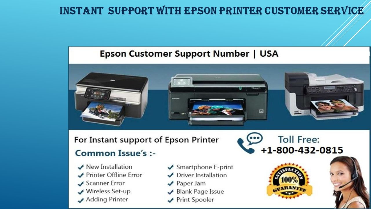 EPSON PRINTER CUSTOMER SERVICE Toll Free: - ppt download