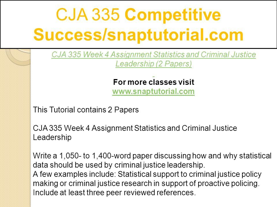 week 2 cja essay Cja/354 week 2 individual criminal defense case analysis although college can be very frightening, it can also be an incredible experience the following guide has tricks and tips that you could use in order to graduate from college consider this advice, along with that of friends and family, very carefully.