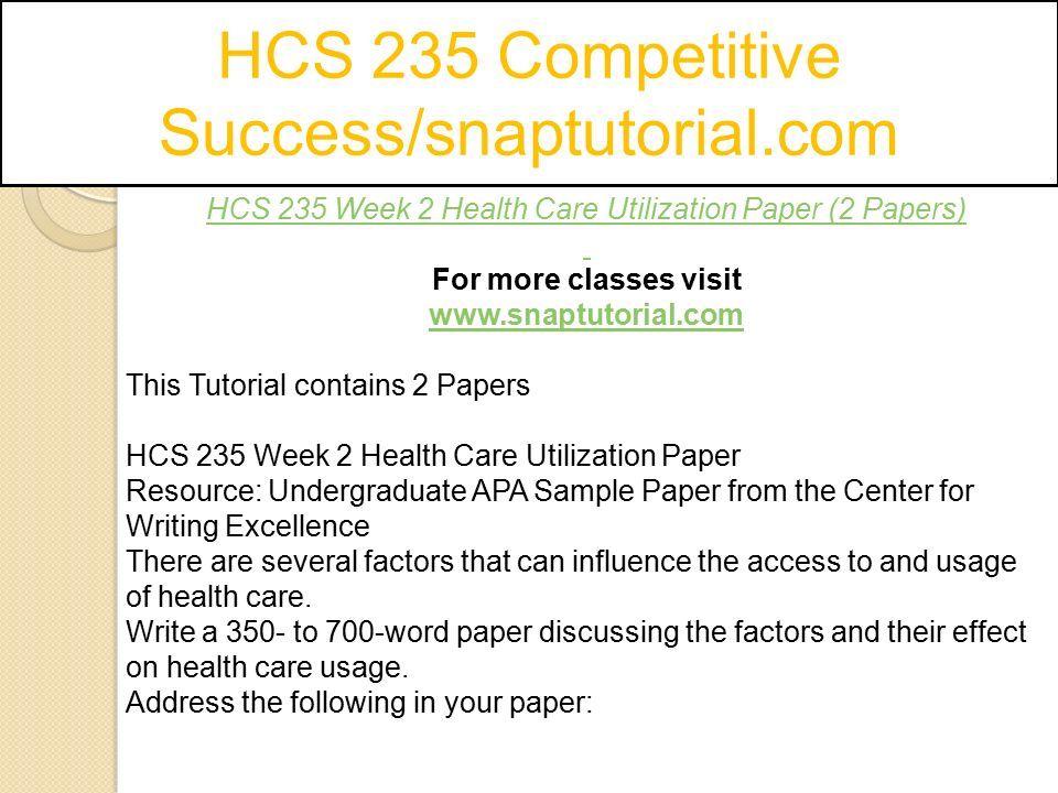 HCS 235 Competitive Success/snaptutorial com - ppt download