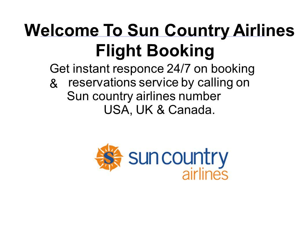Welcome To Sun Country Airlines Flight Booking Get instant responce
