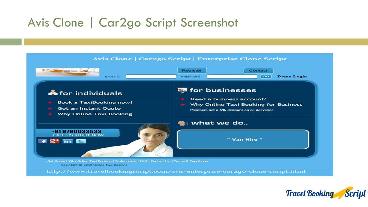 Car2go Script | Enterprise Clone Script from Travel booking script