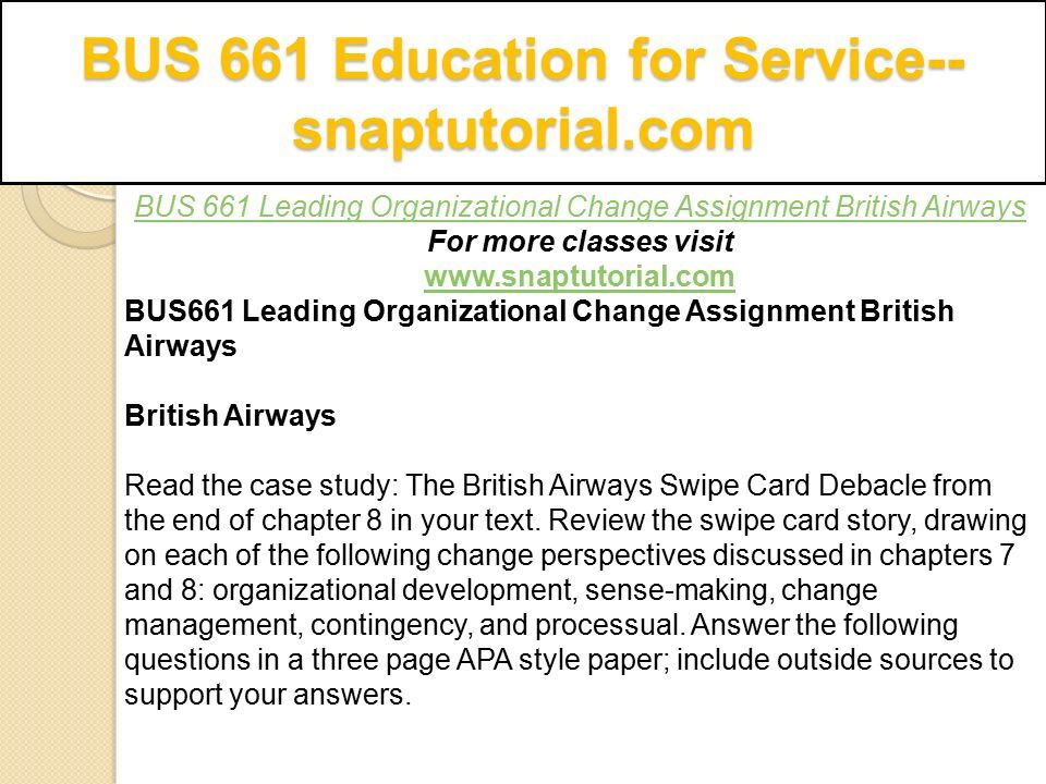 Change Management Case Study With Questions And Answers