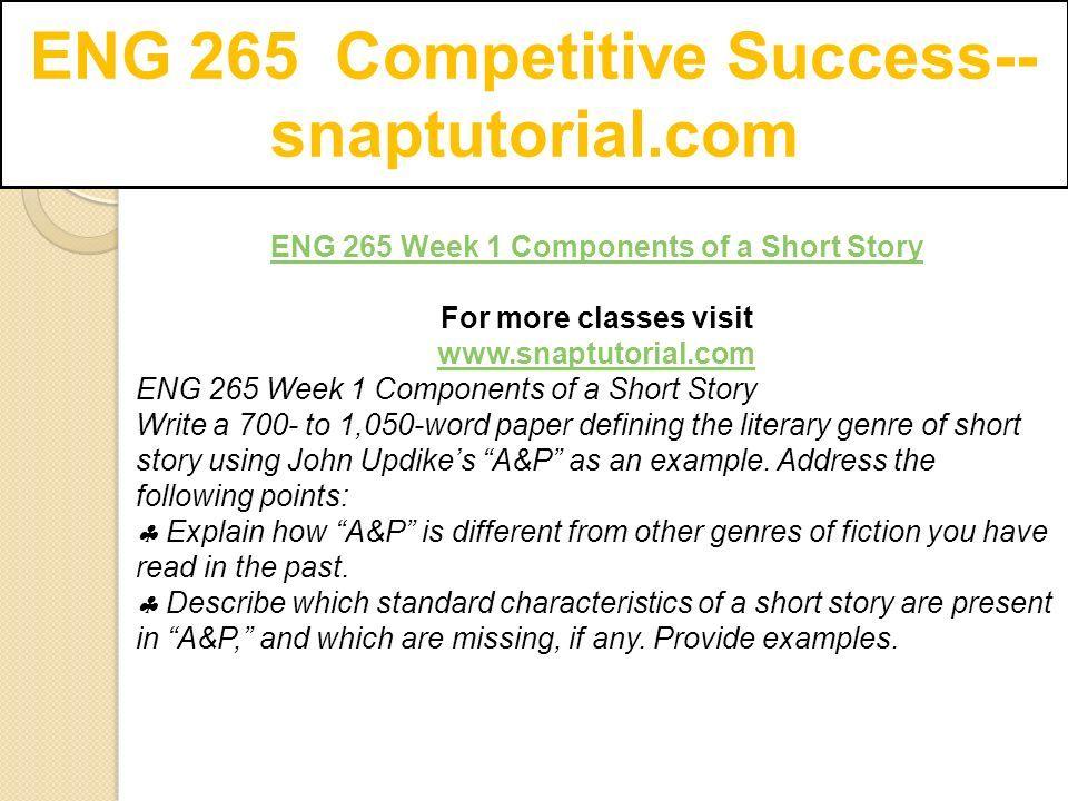a&p story summary