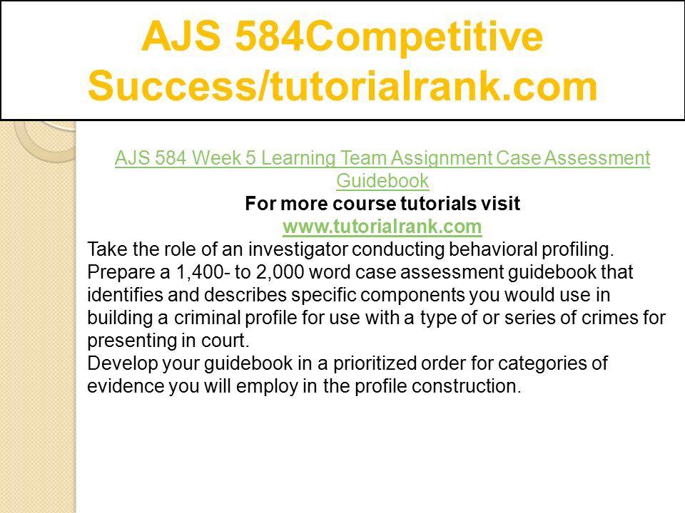 AJS 584Competitive Success/tutorialrank com - ppt download