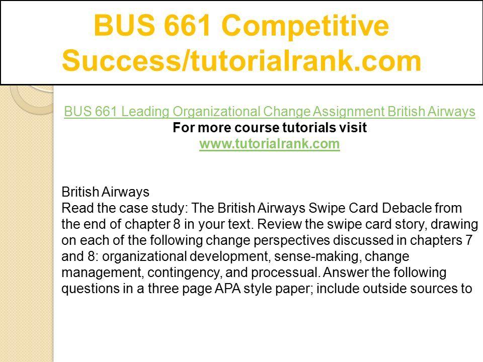 BUS 661 Competitive Success/tutorialrank com - ppt download