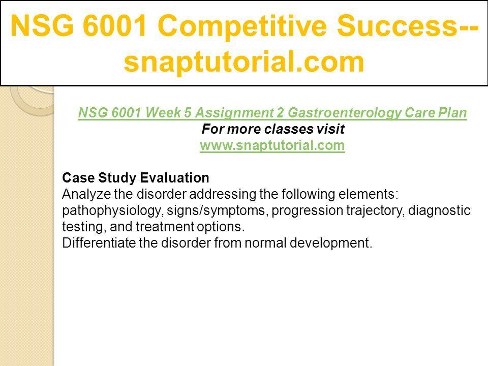 NSG 6001 Competitive Success-- snaptutorial com - ppt download