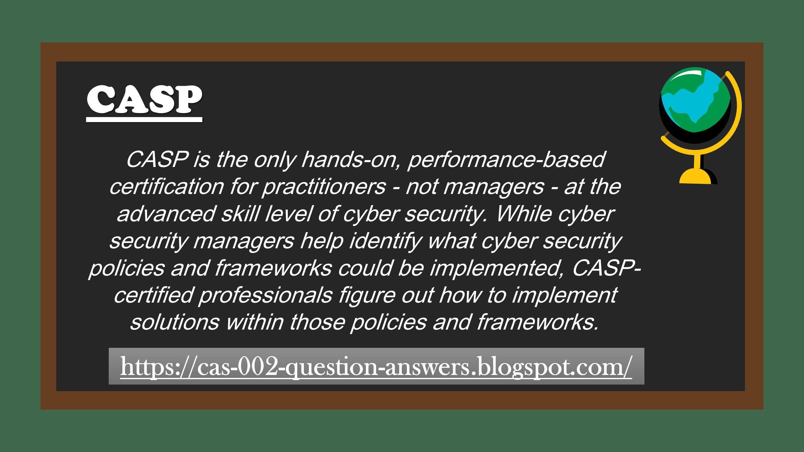 Download Latest CompTIA CAS-002 Exam Dumps PDF Questions