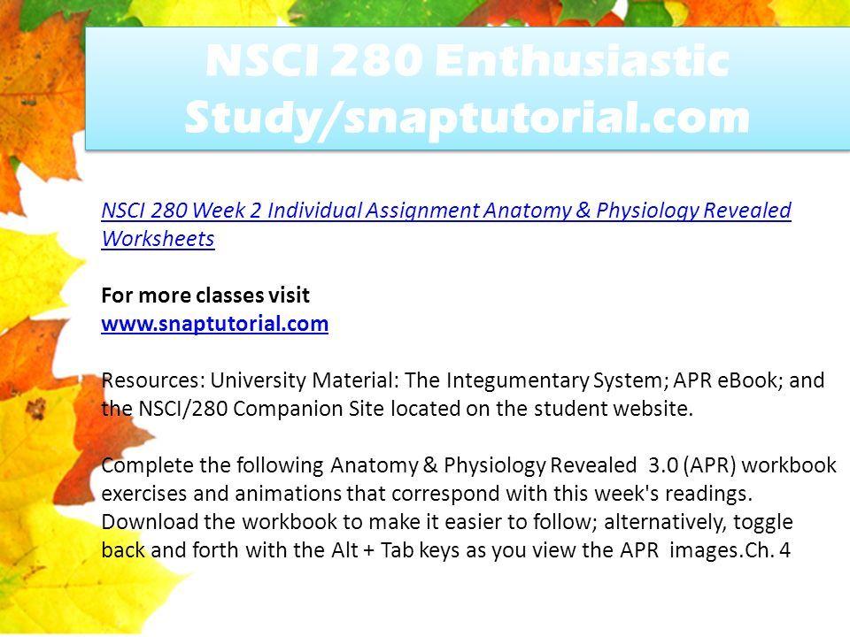 NSCI 280 Enthusiastic Study/snaptutorial.com - ppt download
