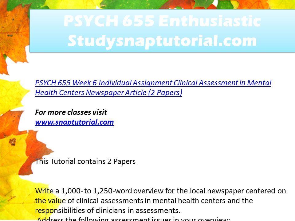 Psych 655 Enthusiastic Studysnaptutorial Com Ppt Download