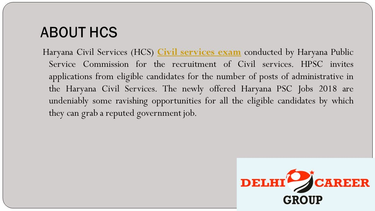 HCS COACHING IN CHANDIGARH - ppt download