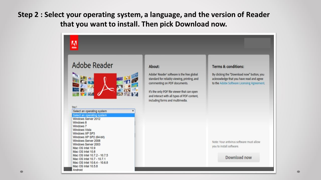 How to Install an old version of Adobe Reader on Mac OS