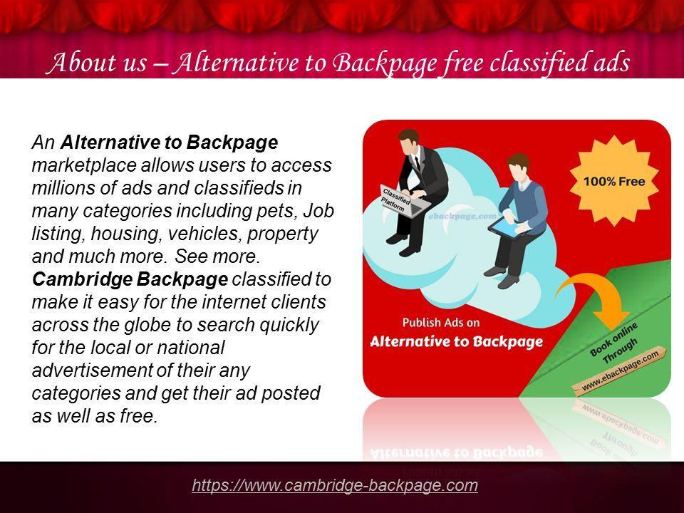 Free backpage alternative