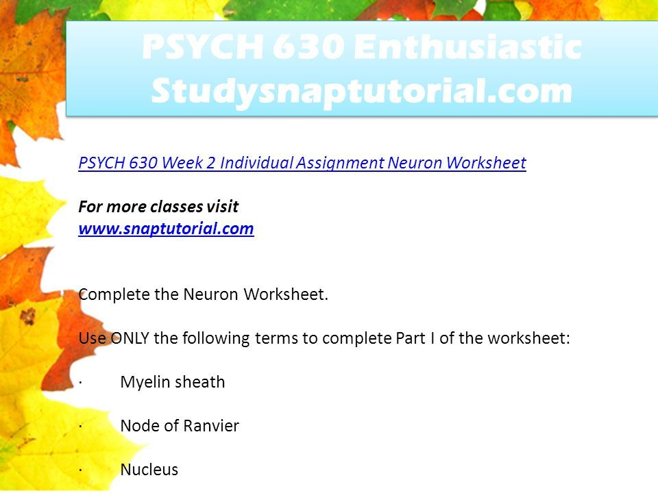 Psych 630 Enthusiastic Studysnaptutorial Ppt Download