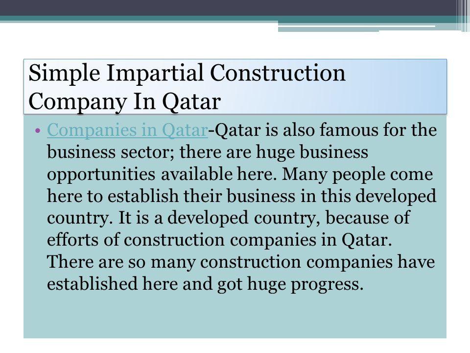 Construction Companies In Qatar World's Finest Construction