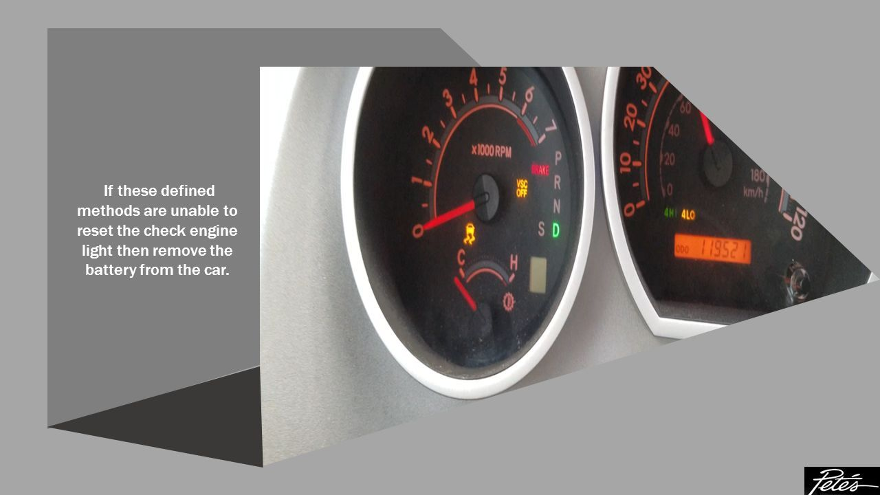 How to Reset the Check Engine Light of your Car - ppt download