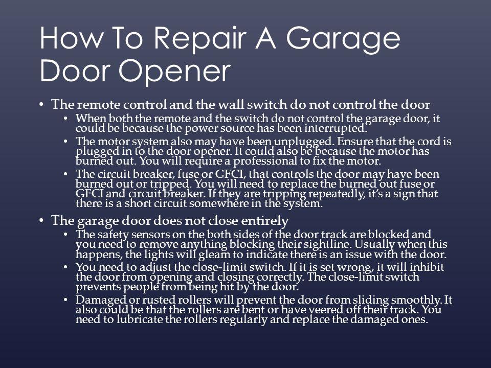 Garage Door Repair Some Useful Tips Ppt Download