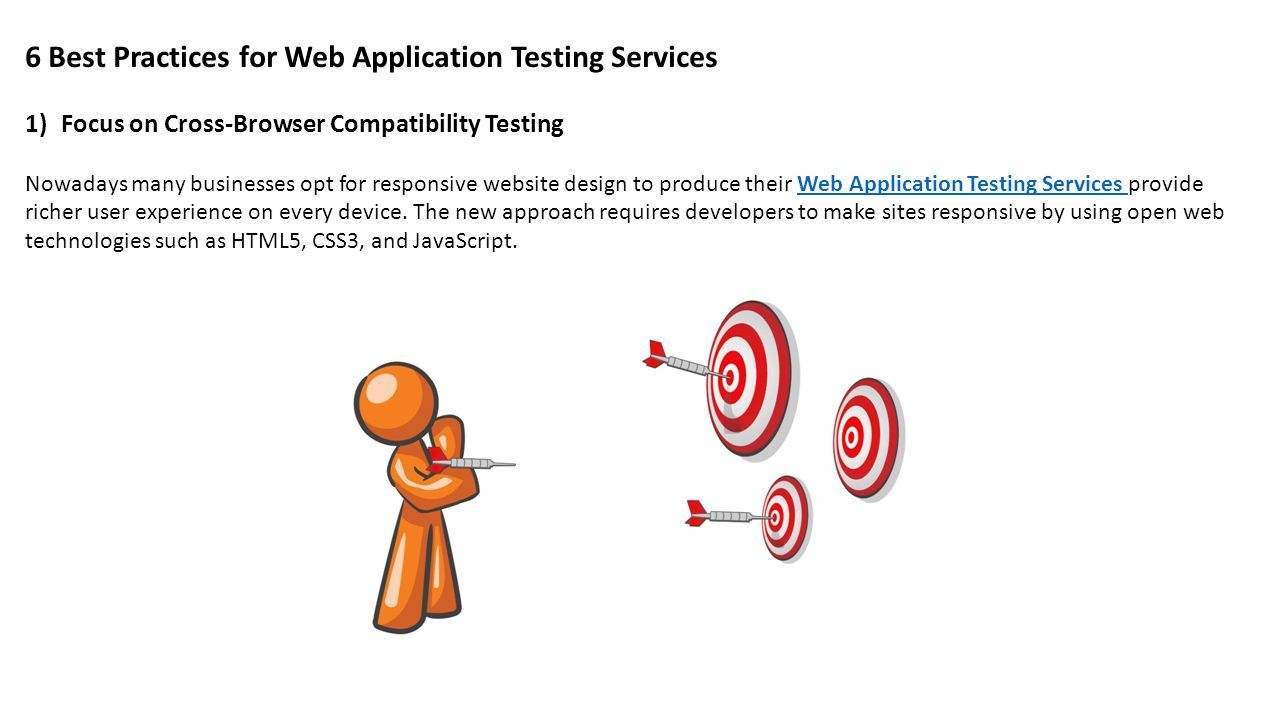 5 Web Application Testing Services Practices  With more and