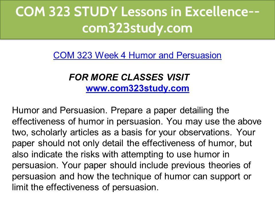 effectiveness of humor in persuasion