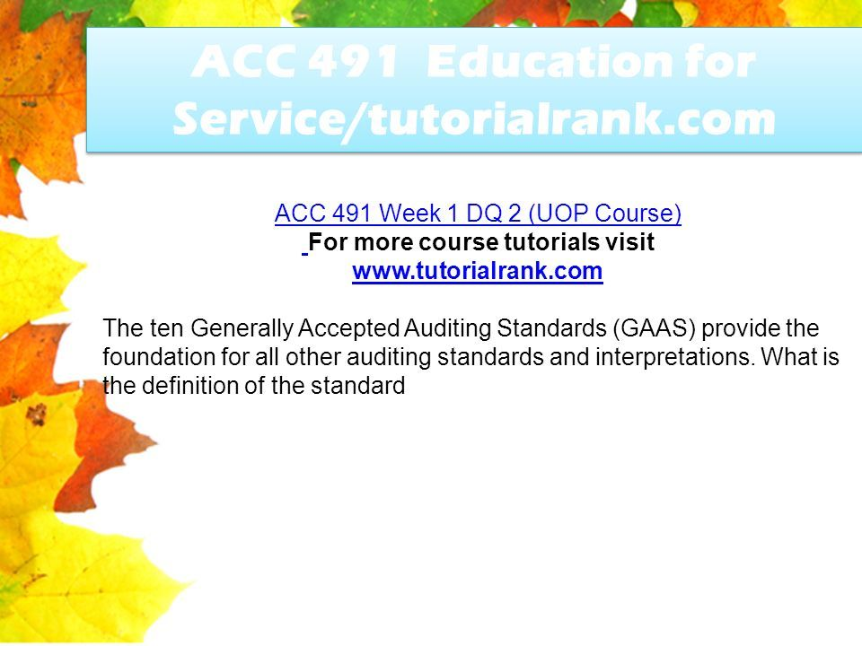 ten generally accepted auditing standards