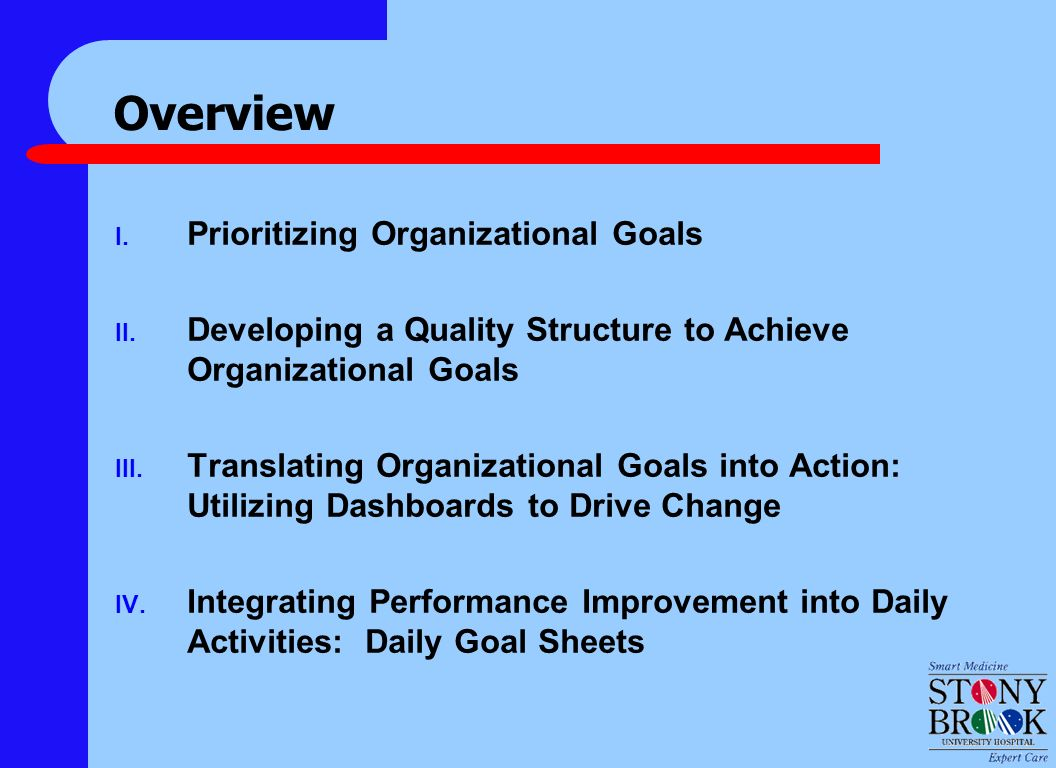 translating institutional goal setting and benchmarking to the