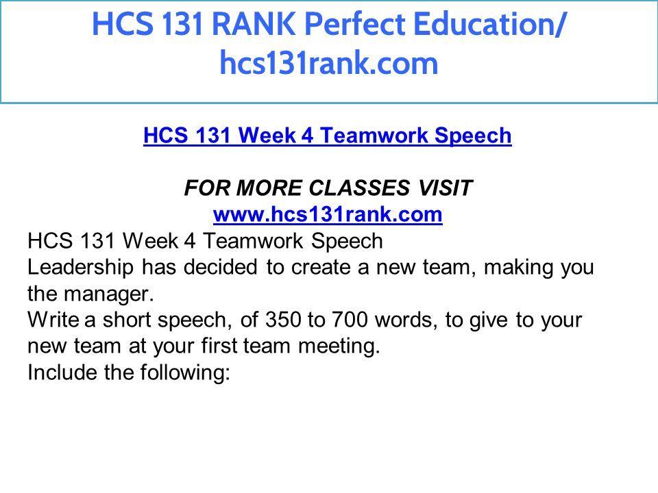 HCS 131 RANK Perfect Education/ hcs131rank com  - ppt download