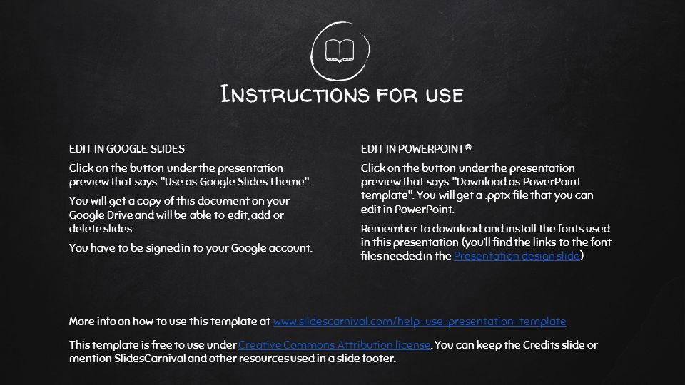 This Is Your Presentation Title Instructions For Use Edit In Google