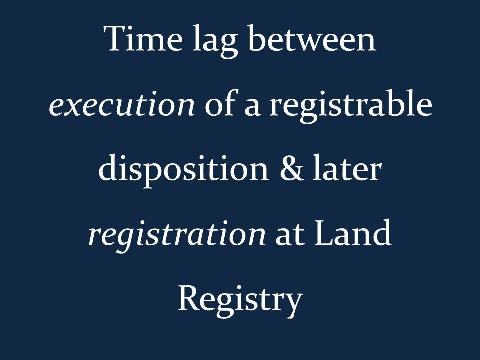 registration of title part 2 priority rules in registered land
