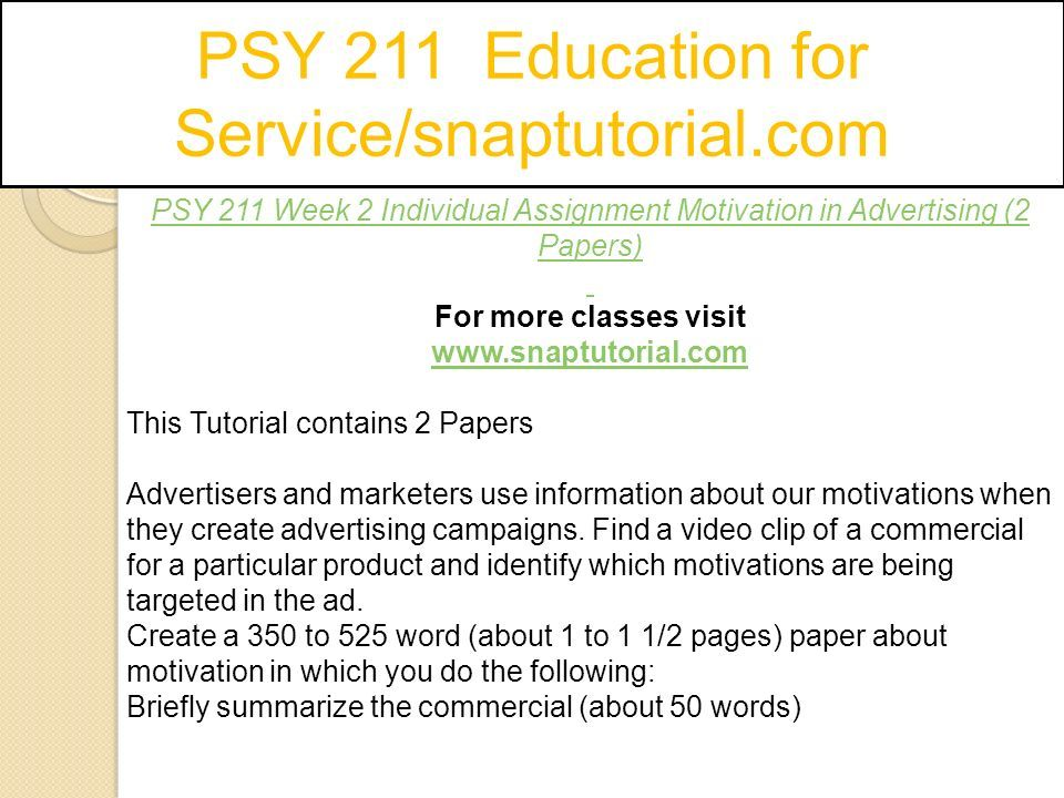 psy 211 research design assignment