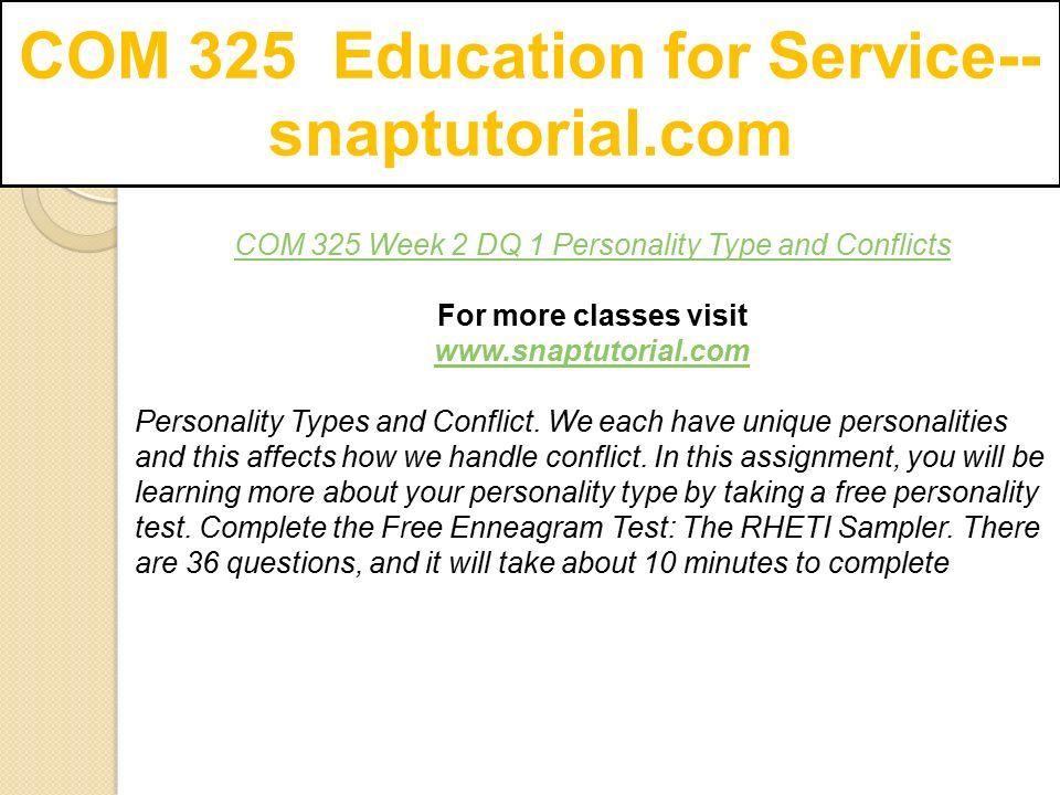 COM 325 Education for Service-- snaptutorial com - ppt download